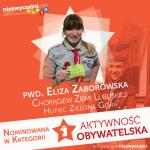 Eliza Zaborowska nominowana w plebiscycie Niezwyczajni 2014!